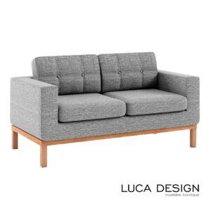 Sofa de sala con base de madera