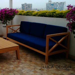 Sofa de madera Sofa para playa